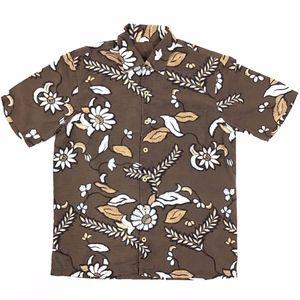 Tommy Bahama Button Down Shirt Men's Medium Brown